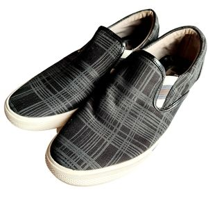 Marlow Mens Grey Grid Check Casual Loafers Shoes 6